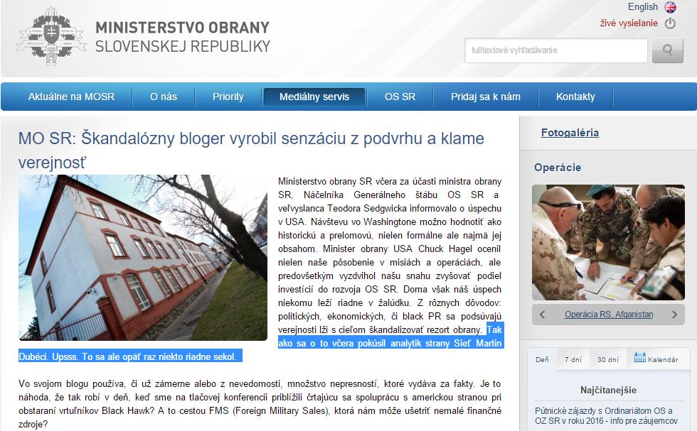MO SR Škandalózny bloger vyrobil senzáciu z podvrhu a klame verejnosť