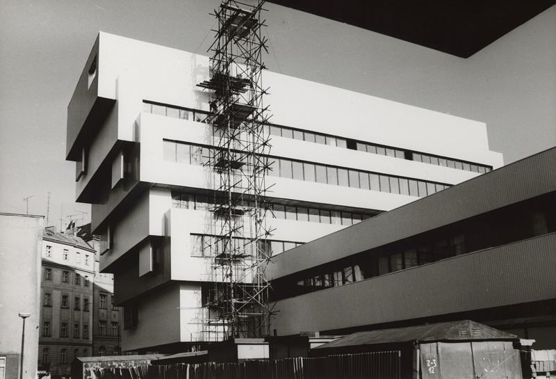 Dedeček: Pohľad na administratívnu budovu a priestory knižnice počas výstavby. Foto - SNG