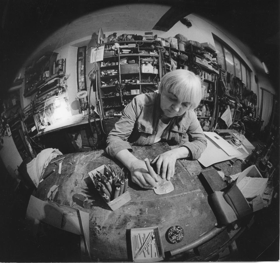 V ateliéri, 80. roky, Foto - Anton Sládek.