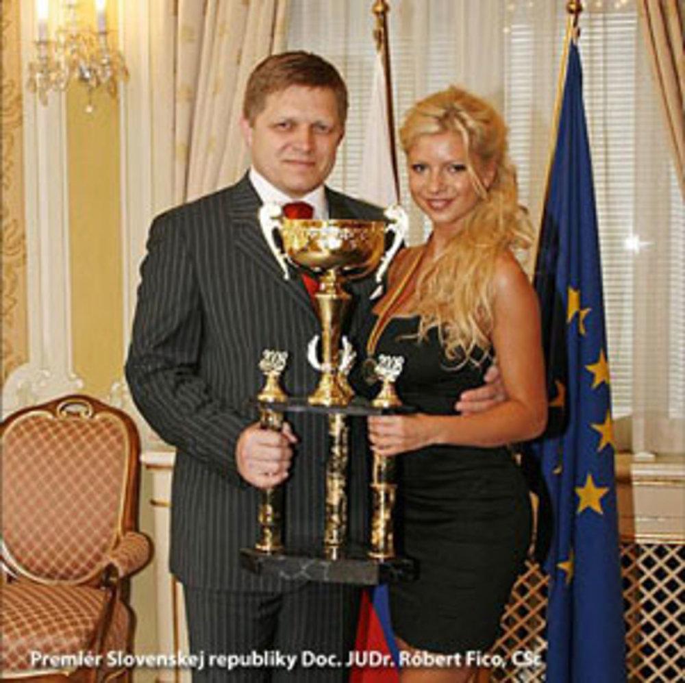 Robert Fico a fitneska Eva Martinková. Foto – web Evy Martinkovej