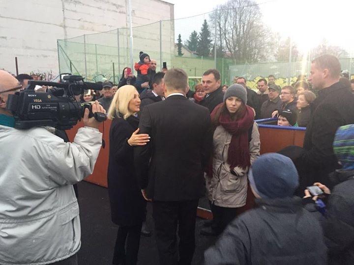 Renáta Zmajkovičová a Robert Fico. Foto – facebook Renáty Zmajkovičovej