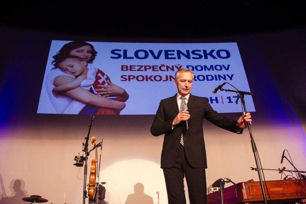 Ján Figeľ na predvolebnom mítingu KDH v Trnave. Foto N - Peter Kováč