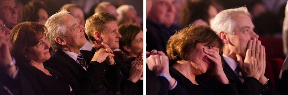 Predseda KDH Ján Figeľ so svojou manželkou na predvolebnom mítingu strany v Trnave. Foto N - Peter Kováč
