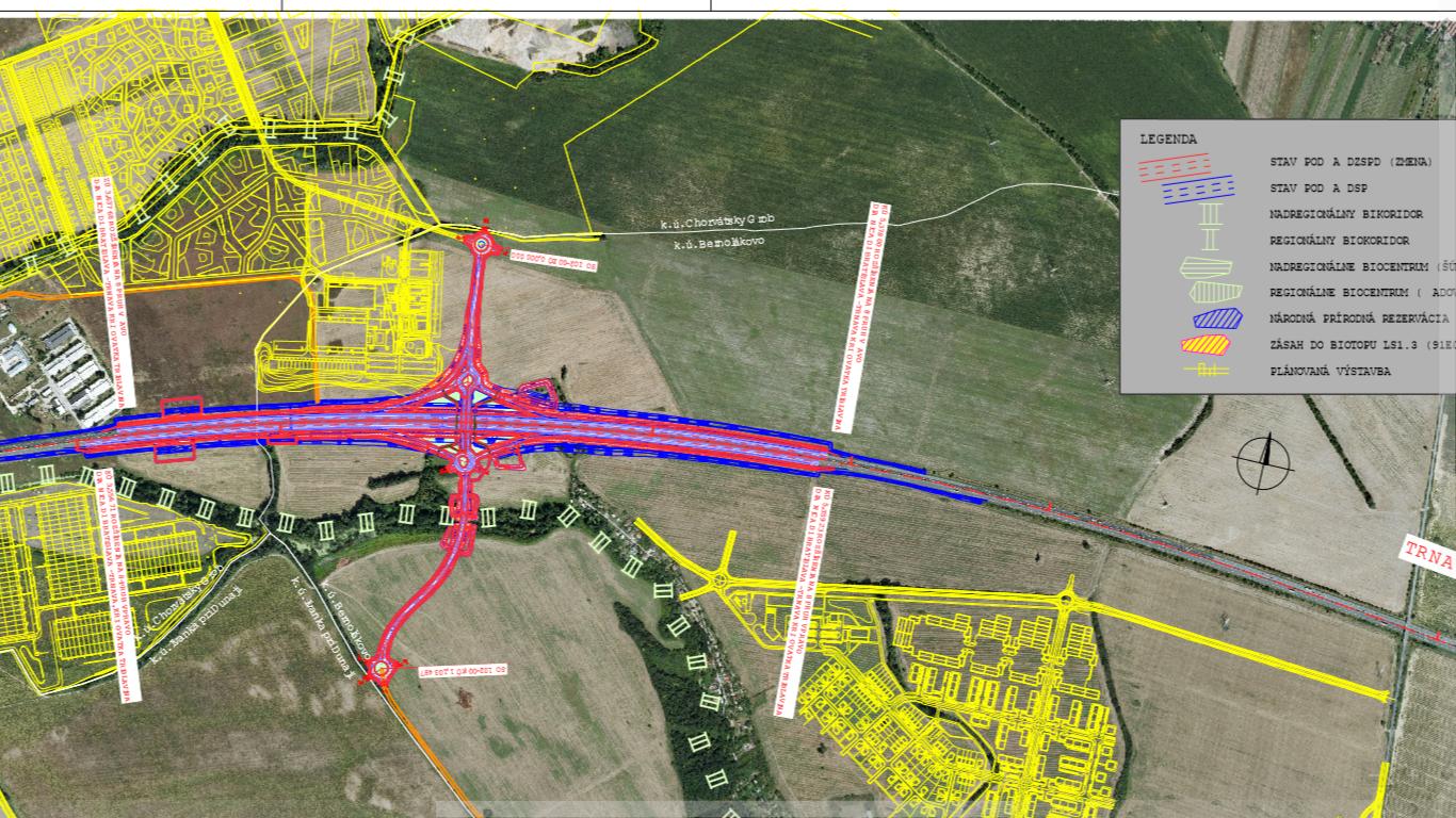 Takto chcú prekresliť križovatku zvanú Triblavinu. Má ústiť do Bernolákova a Chorvátskeho Grobu. Zdroj: enviro.gov.sk