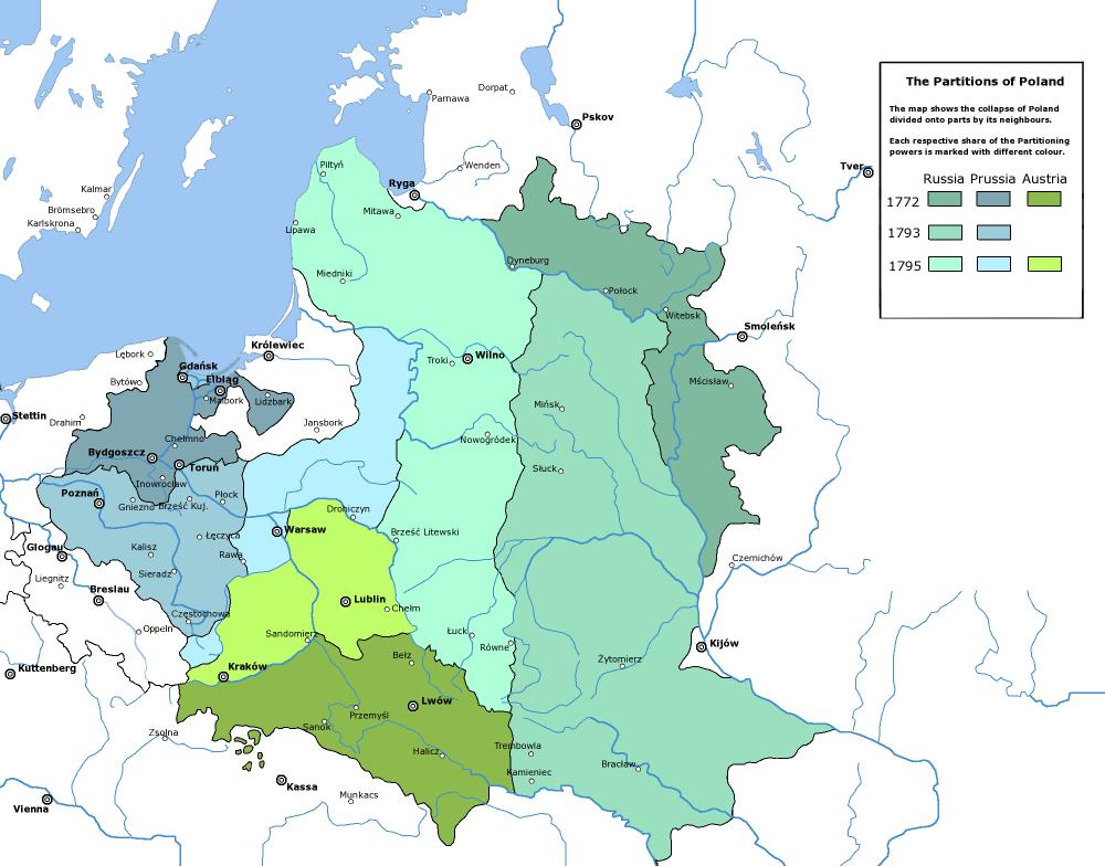 Delenie Poľska (Zdroj: Wikipedia)