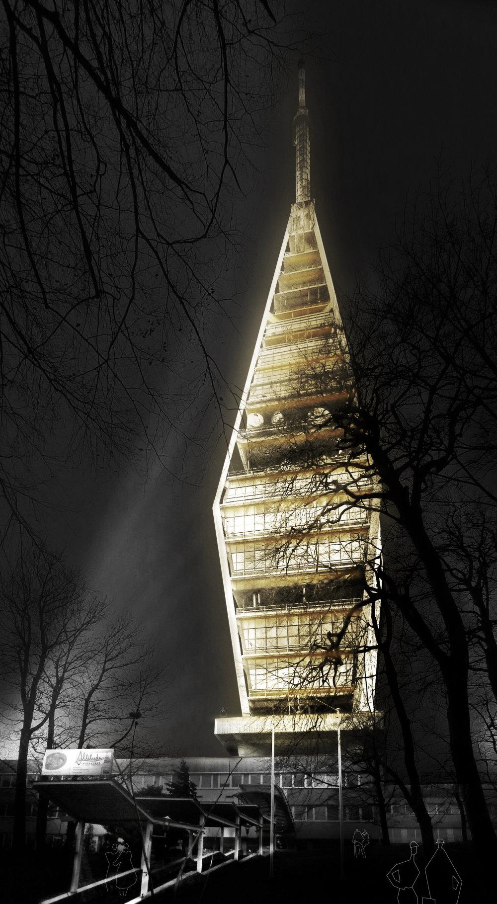 Takto by mohla vyzerať televízna veža na Kamzíku v Bratislave.