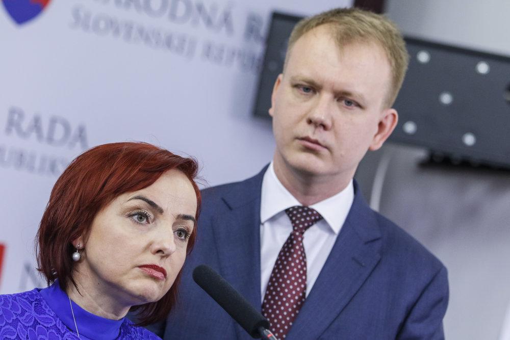 Katarína Macháčková a Miroslav Beblavý, obaja odmietli vládu so Smerom. Foto - Tasr