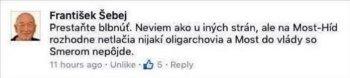 Most - Híd nikdy so Smerom do vlády nepôjde (z FB Františka Šebeja)