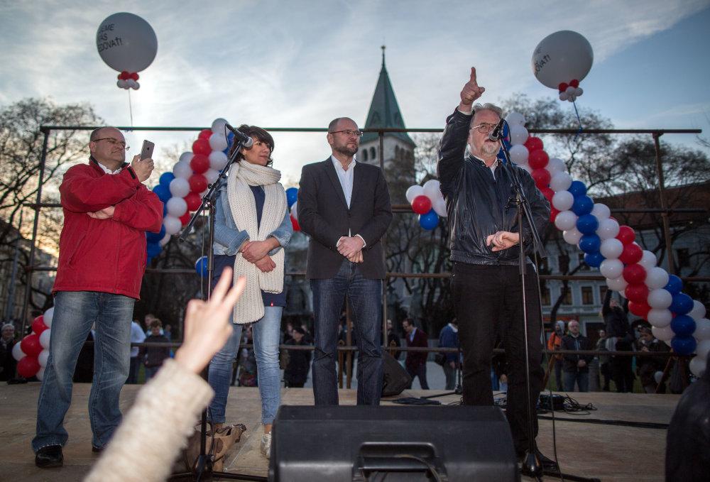 Lídrami opozície aj protestu sú SaS. Foto N - Tomáš Benedikovič