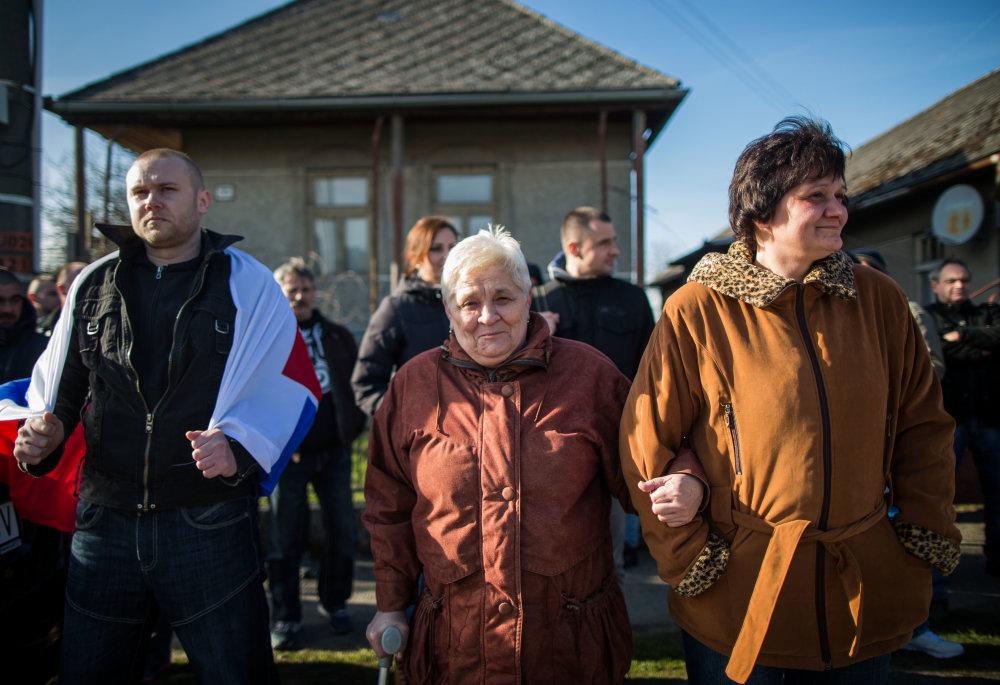 Demonštrácia ĽSNS v Šarišských Michaľanoch. Foto N - Tomáš Benedikovič