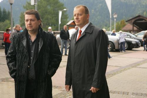 Ladislav Bašternák a Boris Kollár na svadbe Branislava Záhradníka. Foto - topky.sk