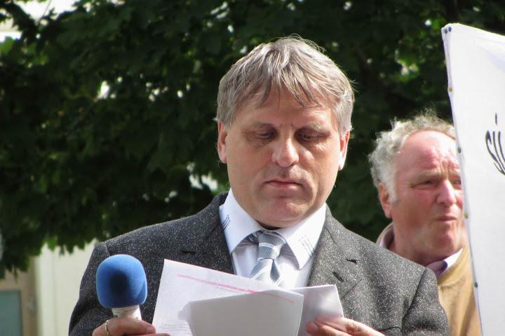 Anton Čulen z Aliancie za nedeľu a kandidát ĽSNS. Foto - Aliancia za nedeľu