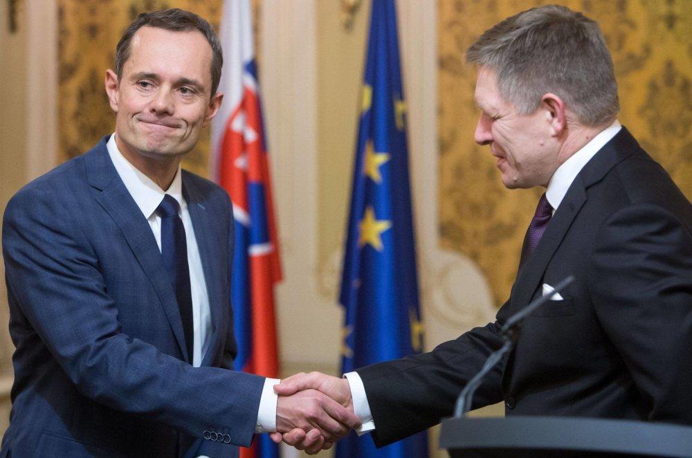 Radoslav Procházka a Robert Fico. Foto N - Tomáš Benedikovič