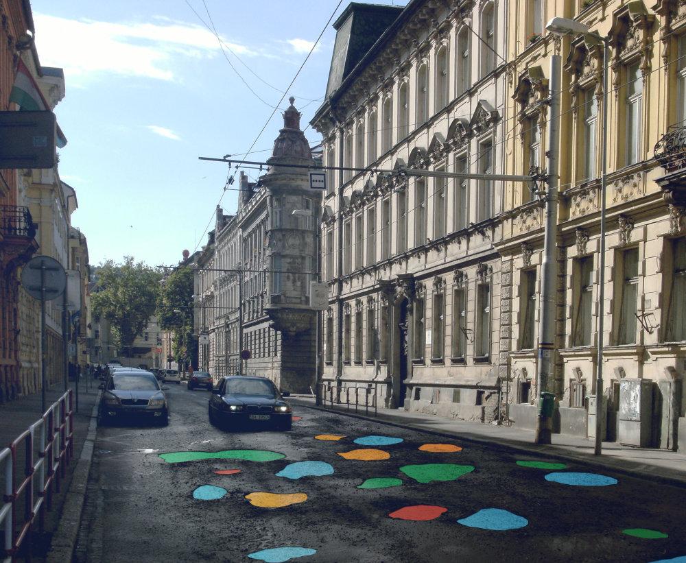 Takto by nabudúce mohli vyzerať ulice - namiesto bilbordov zapĺňanie dier. Foto - totalstudio