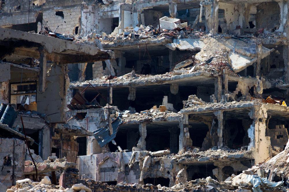 Zničené sýrske mesto Homs. Foto – AP