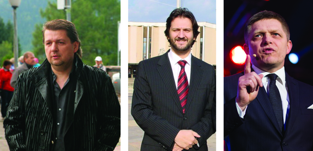 Ladislav Bašternák, Robert Kaliňák a Robert Fico. Foto topky a N - Tomáš Benedikovič