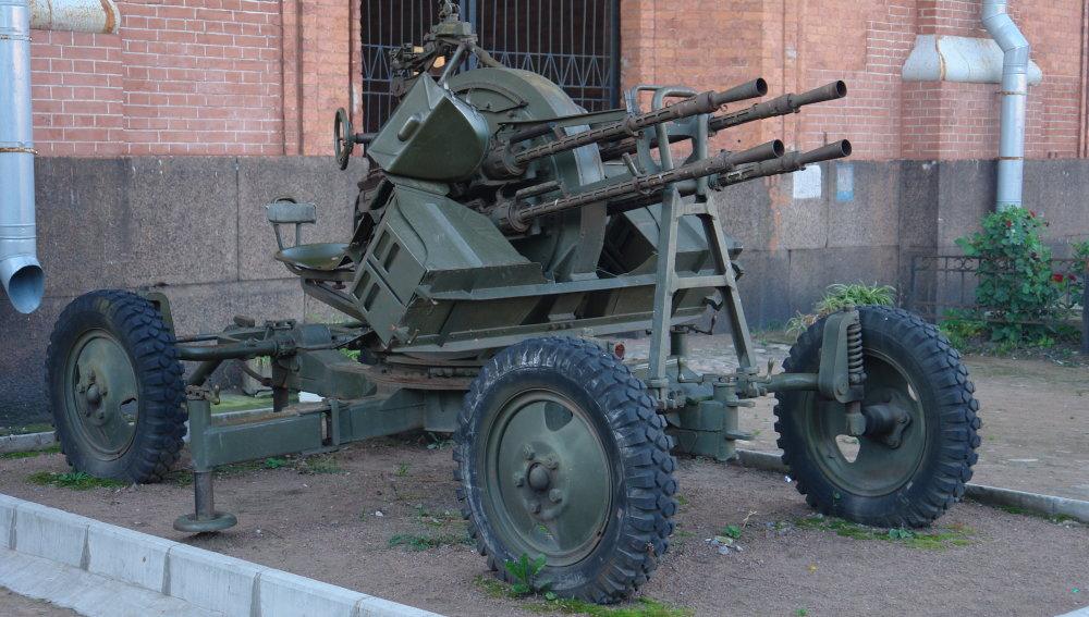 Protilietadlový guľomet ZPU. Foto – Wikipedia