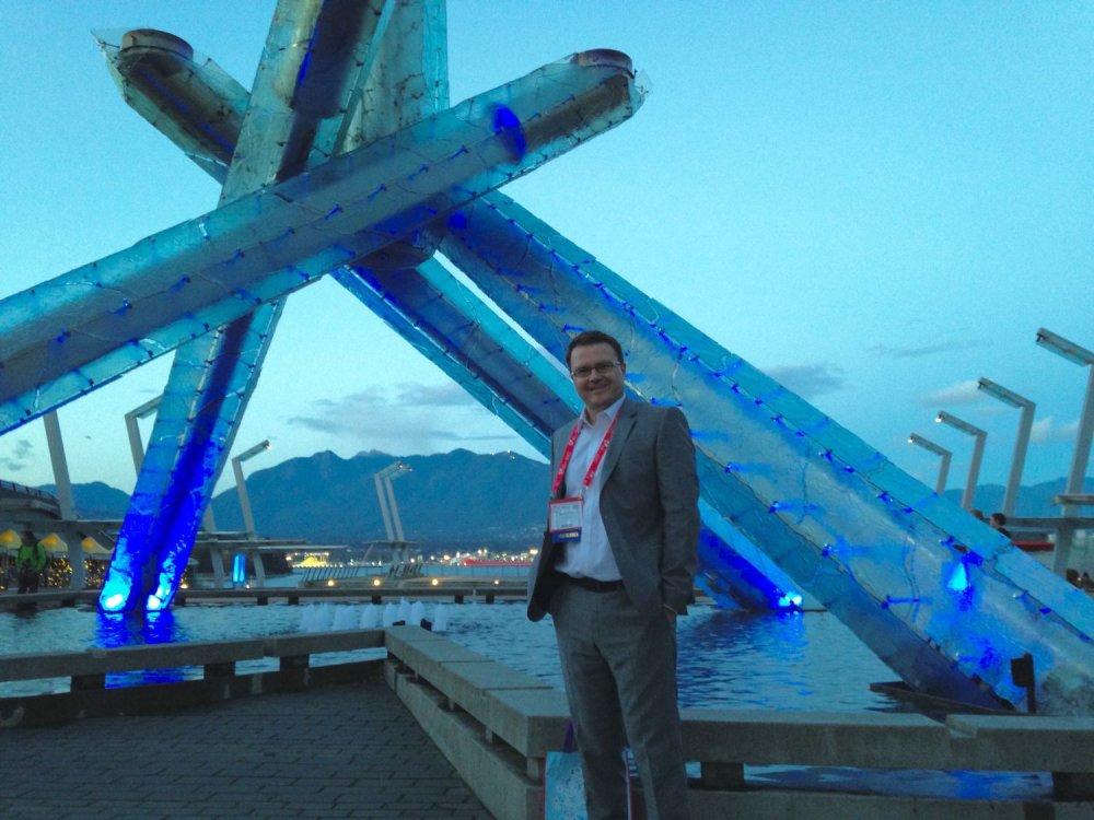 Marian Kotrec na kanadskej kardiologickej konferencii vo Vancouveri. Foto - archív M. K.