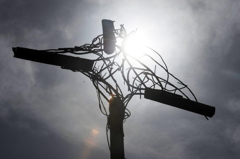 Kríž na mieste vraždy. foto - TASR