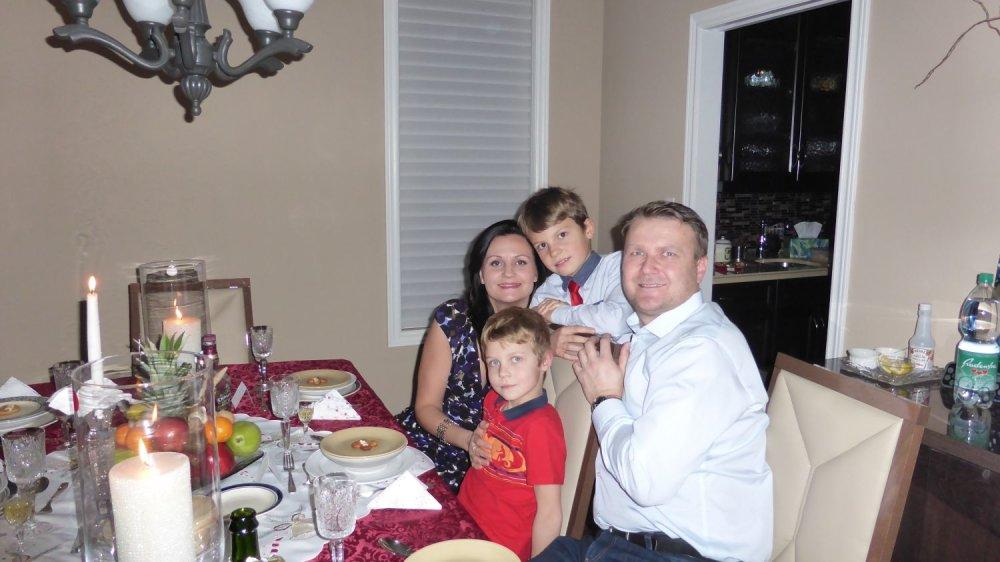Marian Kotrec s rodinou. Foto - archív M. K.