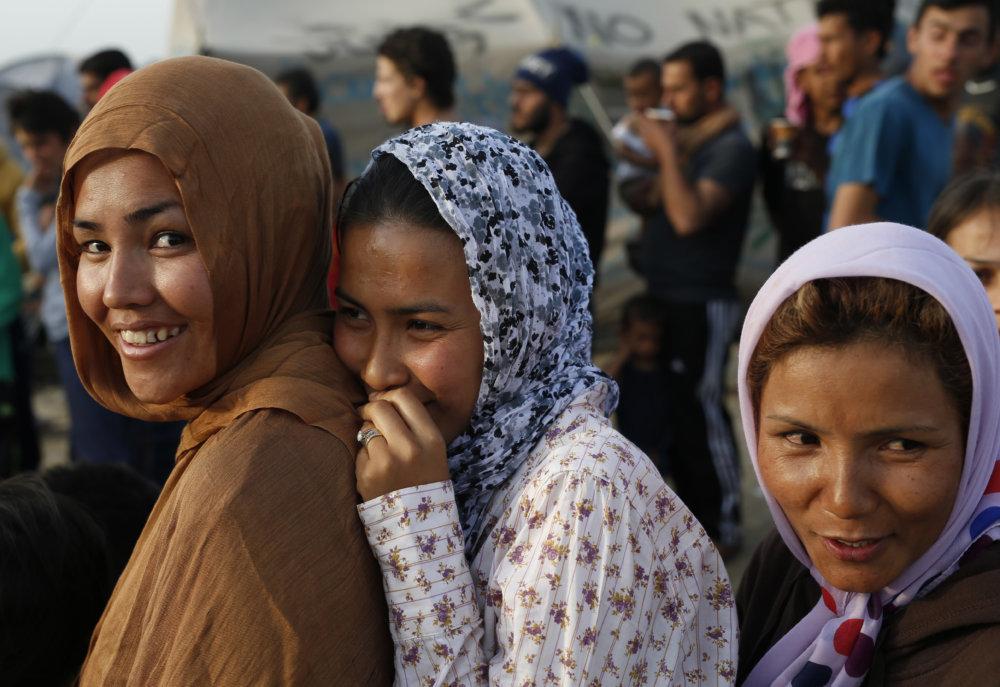 Utečenky v gréckom Idomeni. Foto – TASR/AP