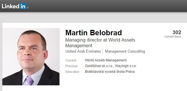 Profil Martina Belobrada na sociálnej sieti LinkedIn.