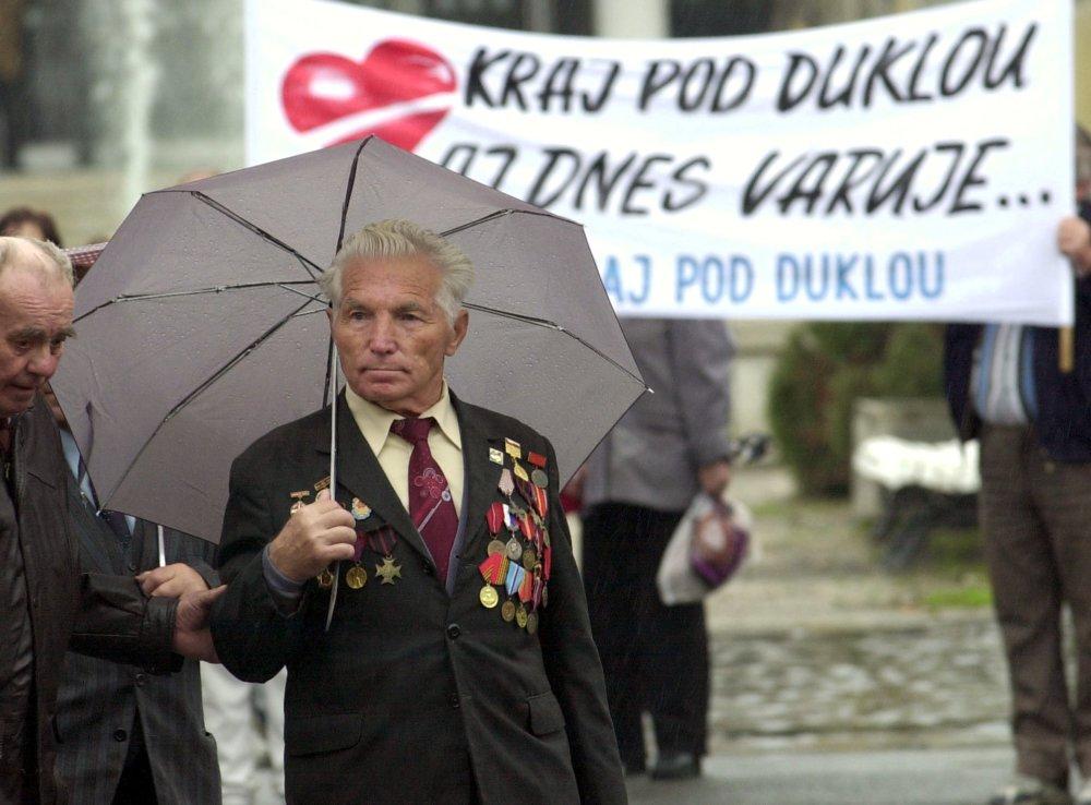 Juraj Biľo na oslavách oslobodenia Svidníka. Foto - tasr