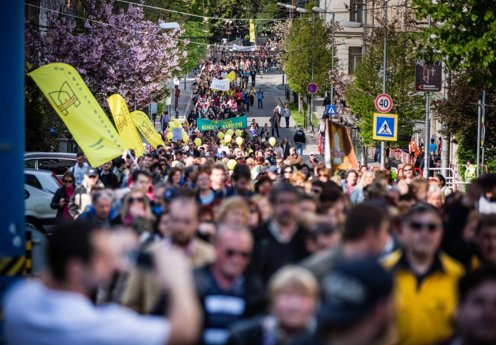 Z minulotýždňového protestu učiteľov.. foto N – Tomáš Benedikovič