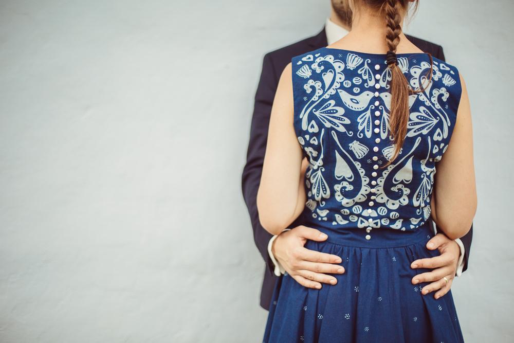 Modrotlač sa dostala aj na oblečenie. Foto – archív Mateja Rabadu