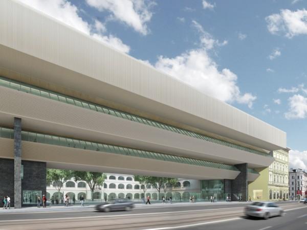Vizualizácia budovy Slovenskej národnej galérie po rekonštrukcii. Zdroj – SNG