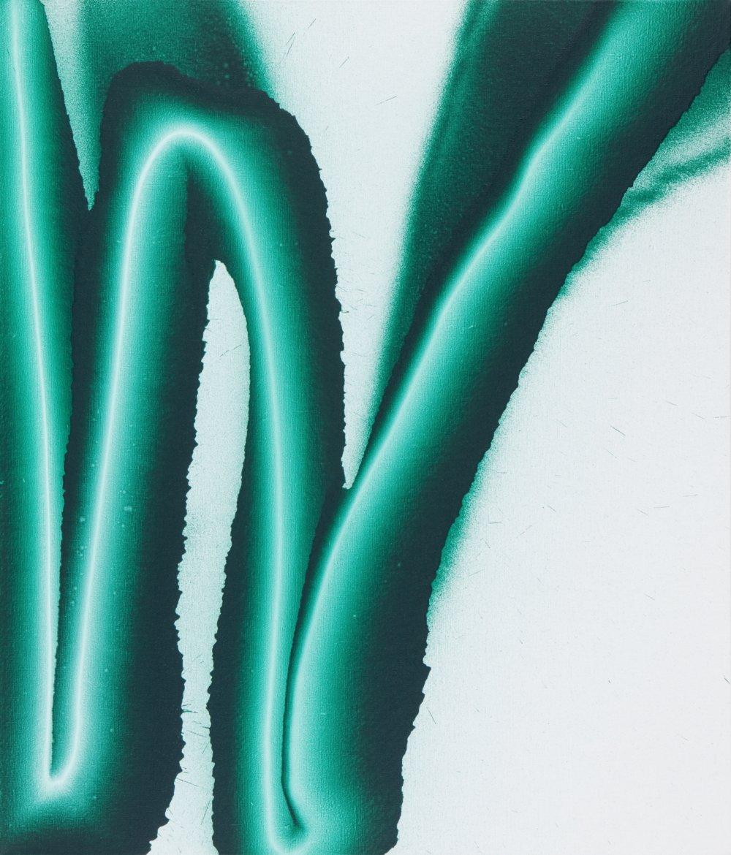 Chromoxidgrün feurig, 105 × 90 cm, akryl na plátne, 2015, foto Viktor Szemzö