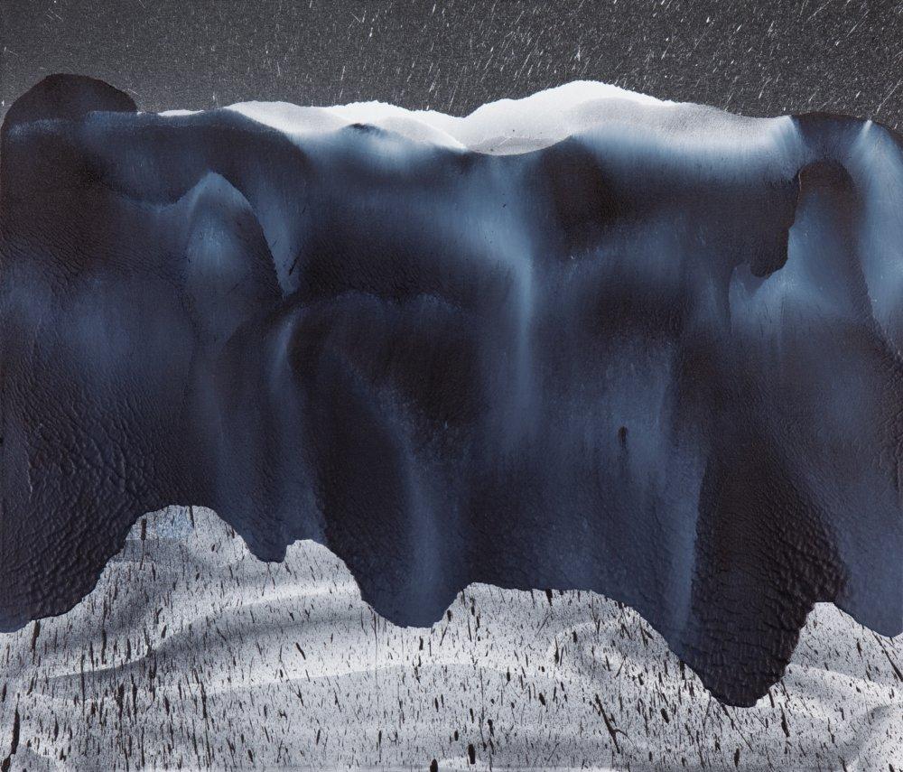 Landscape #1, 90 × 105 cm, akryl na plátne, 2015, foto Viktor Szemzö