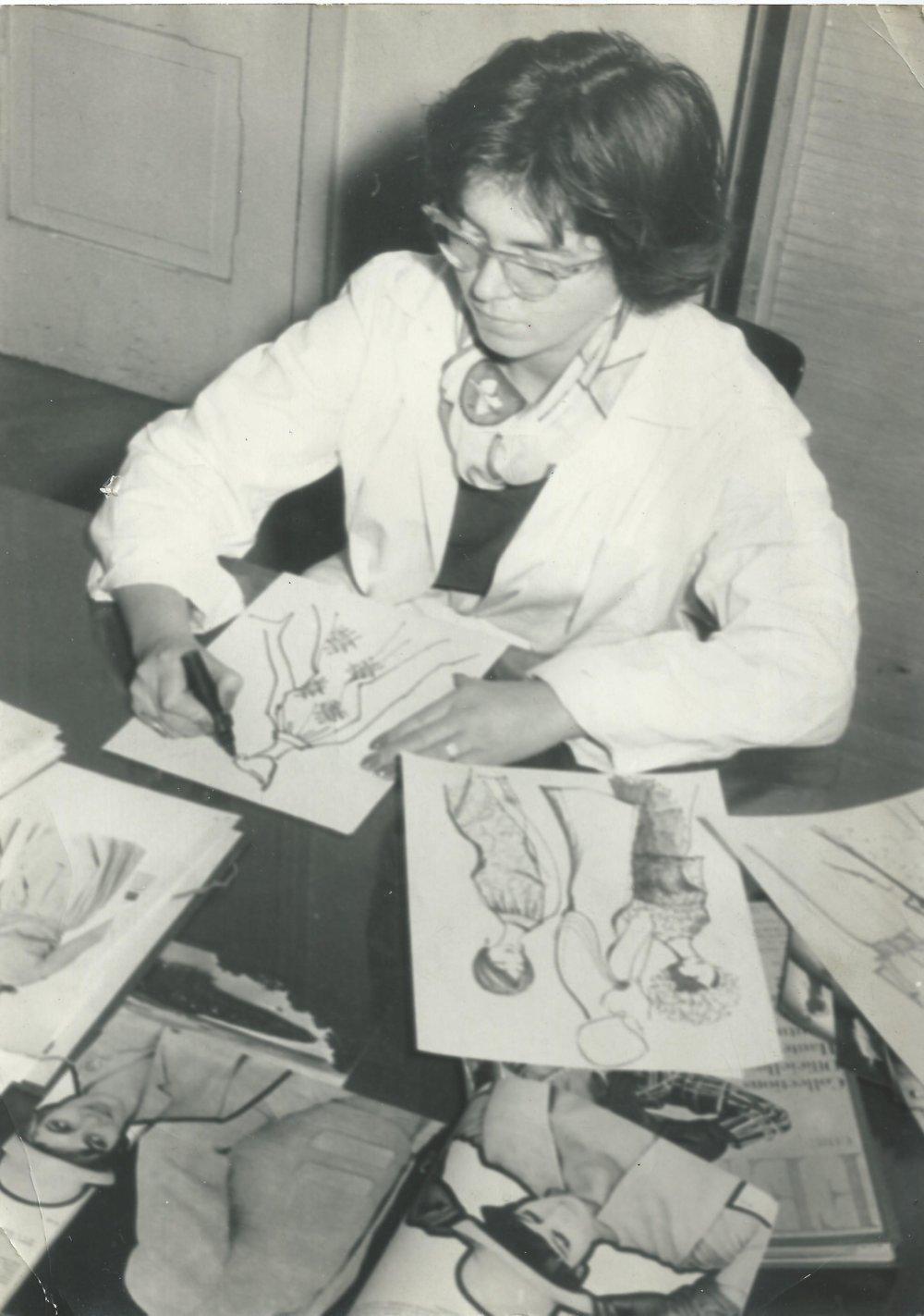 Alica Buchová-Budovská, jedna z návrhárok podniku. Foto - Múzeum dizajnu