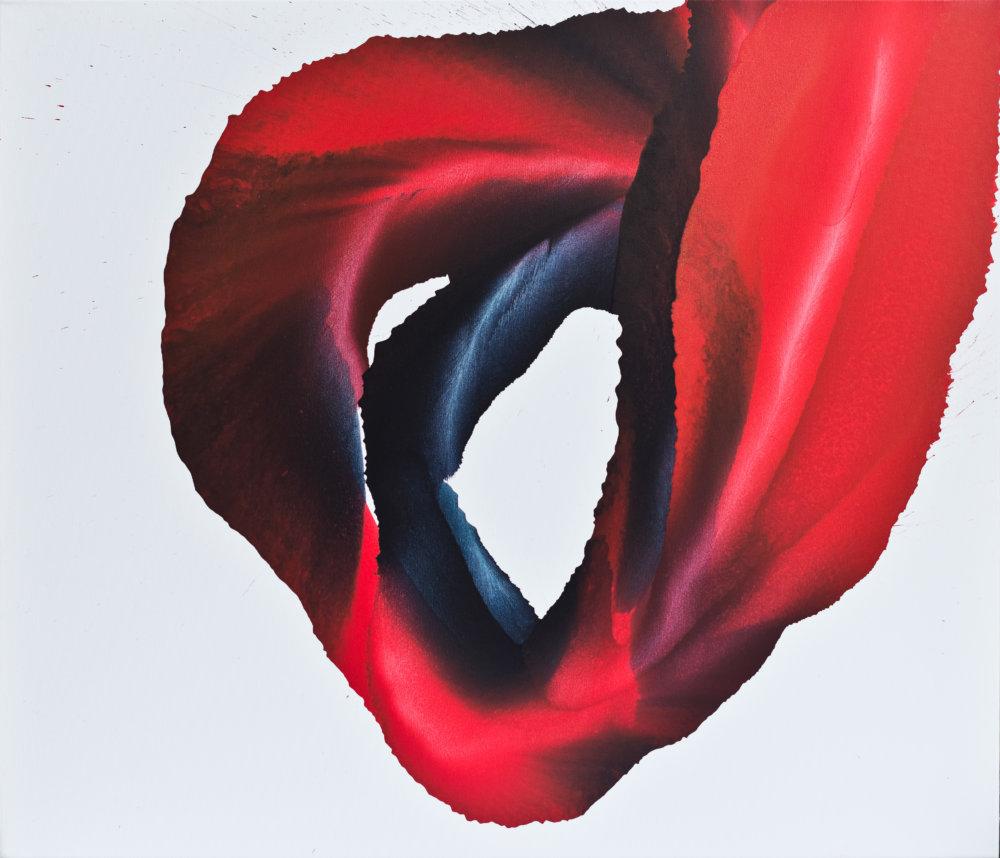 Through Thick & Thin, 90 × 105 cm, akryl na plátne, 2015, foto Peter Čintalan