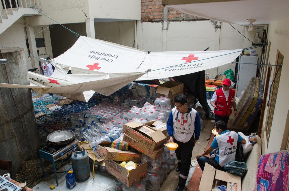 Stanovište Červeného kríža v Zóne nula. Foto - Tomáš Forró