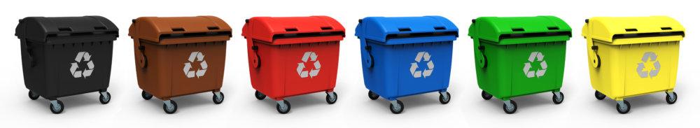 Abfallcontainer verschiedene Farben