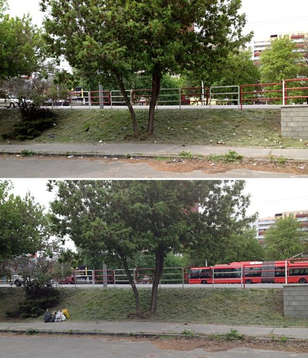 Pred a po - odpad v Bratislave