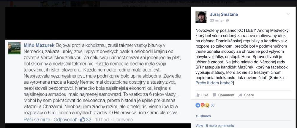 Facebook Juraja Smatanu