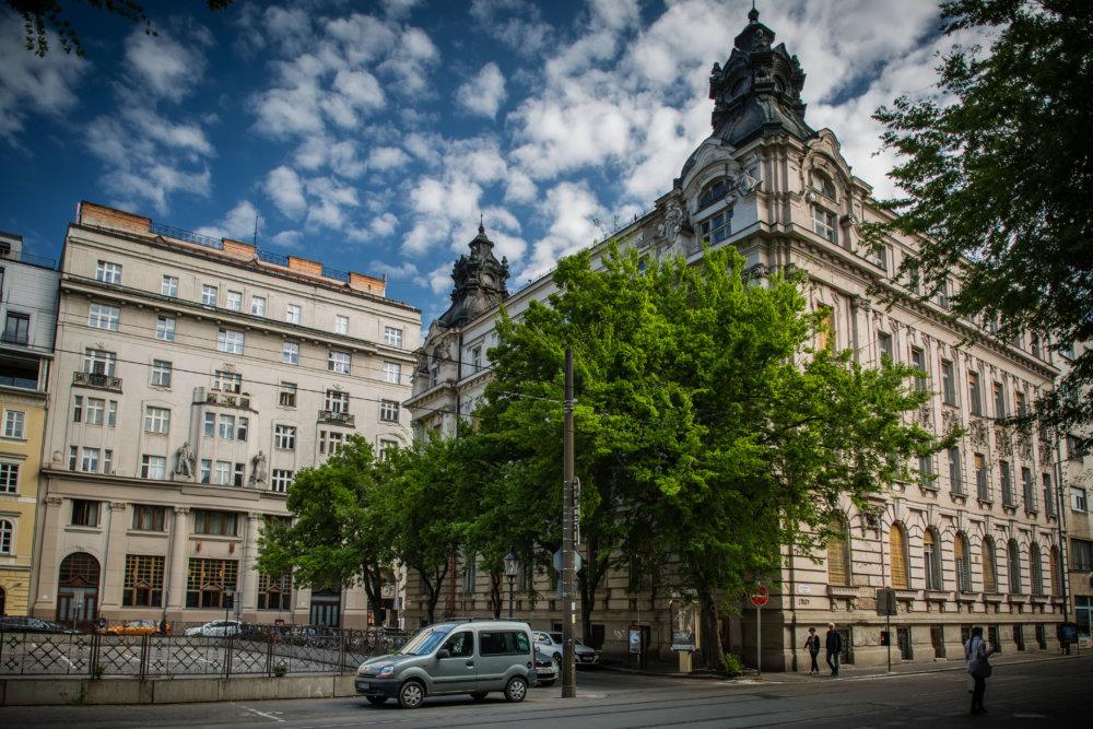 Výbohové budovy na Gorkého ulici. Foto N - Tomáš Benedikovič