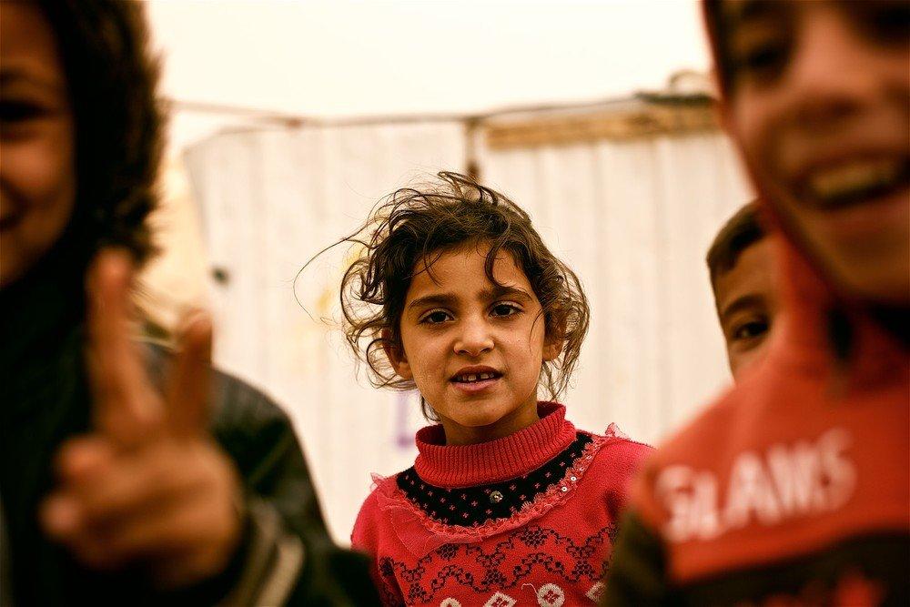 Fotka Denisa Bosnića z tábora Zaatari v Jordánsku.