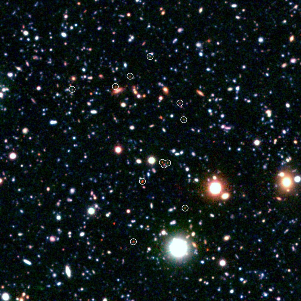 Vzdialené galaxie. foto - TASR/AP