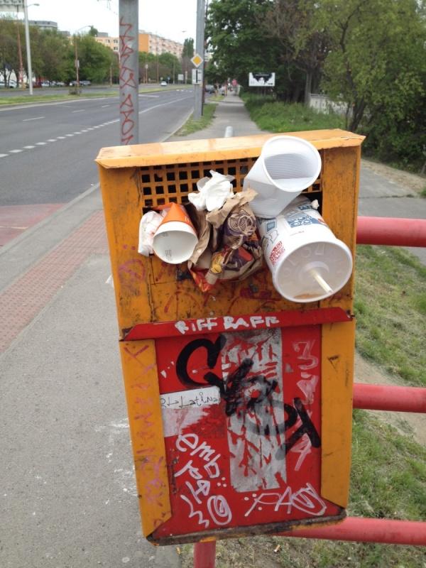 Odpadkový koš v Bratislave