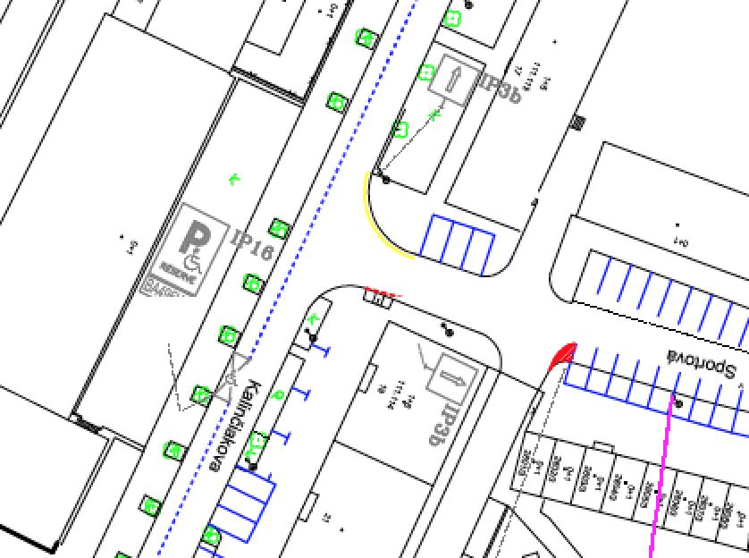 Bez priechodov pre chodcov za to parkovaním na chodníkoch. Foto: Plán zavedenia rezidenčného parkovania Tehelné pole.