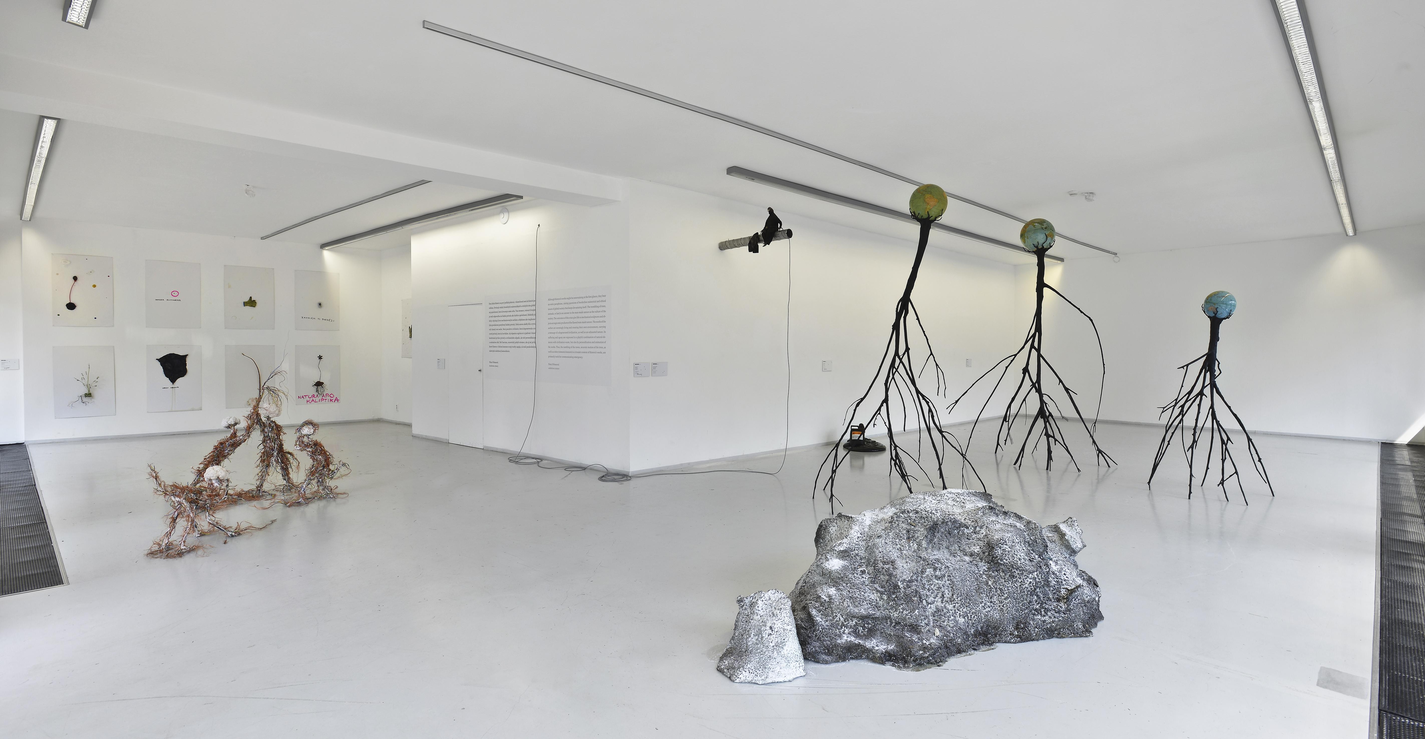 Záber z výstavy Krištofa Kinteru v Kunsthalle LAB. Foto - Martin Marenčin
