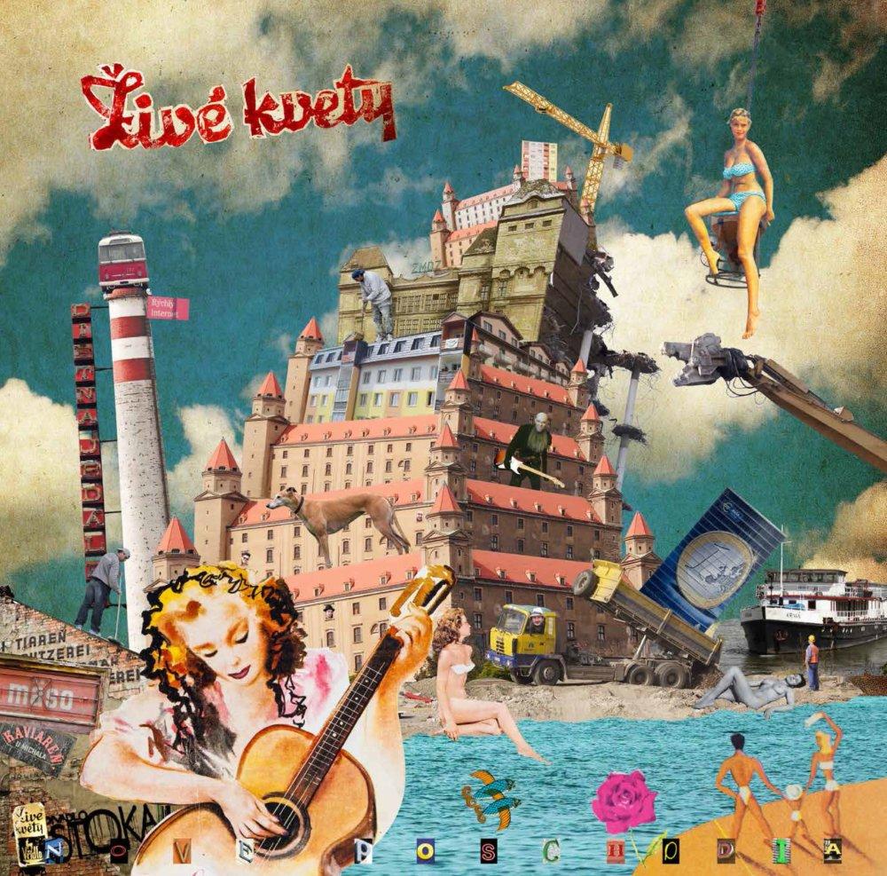 Obal desiateho albumu Živých kvetov od grafika Vlada Holinu.