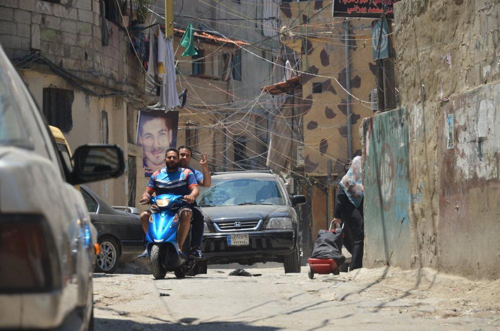 Bejrút, v štvrti plnej utečencov. FOTO – TASR/AP