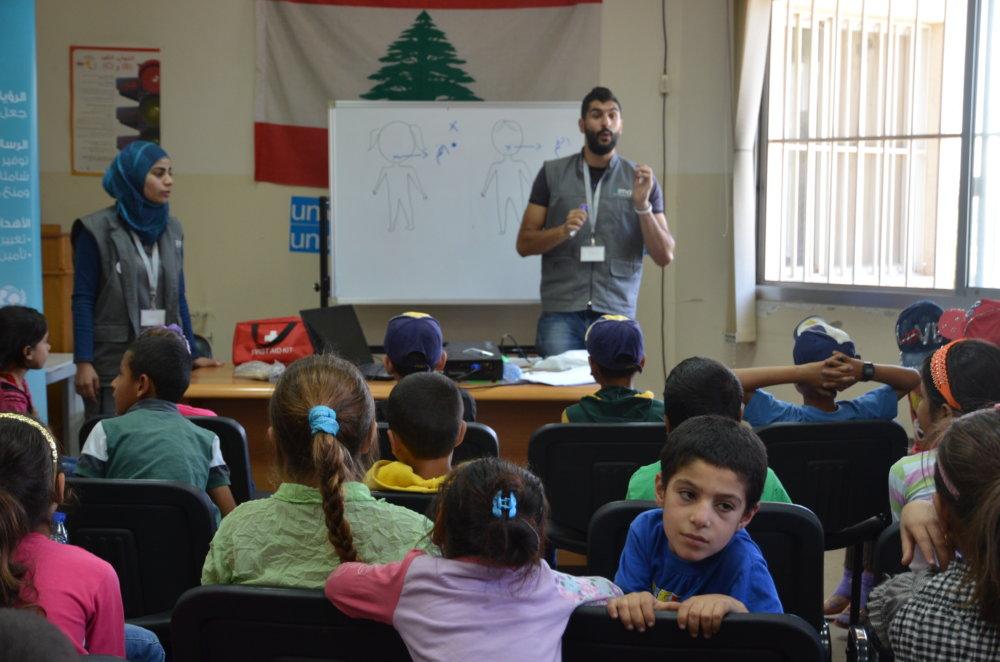 Deti utečencov sa učia ako sa brániť pred zneužívaním. FOTO - TASR/AP