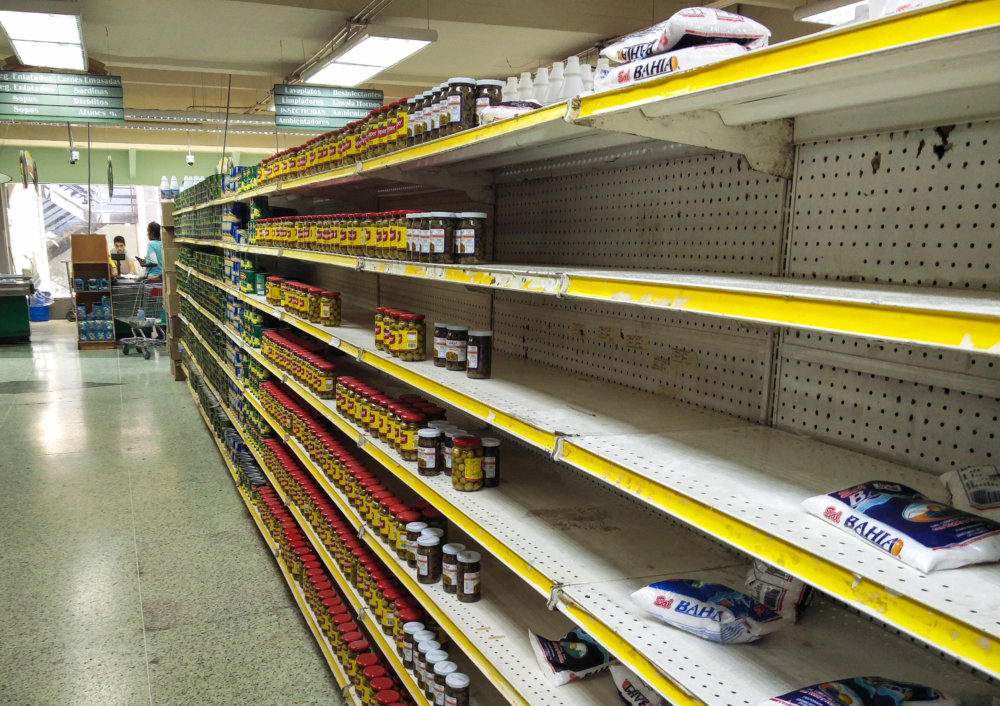 Supermarket v centre Caracasu. Foto - Tomáš Forró