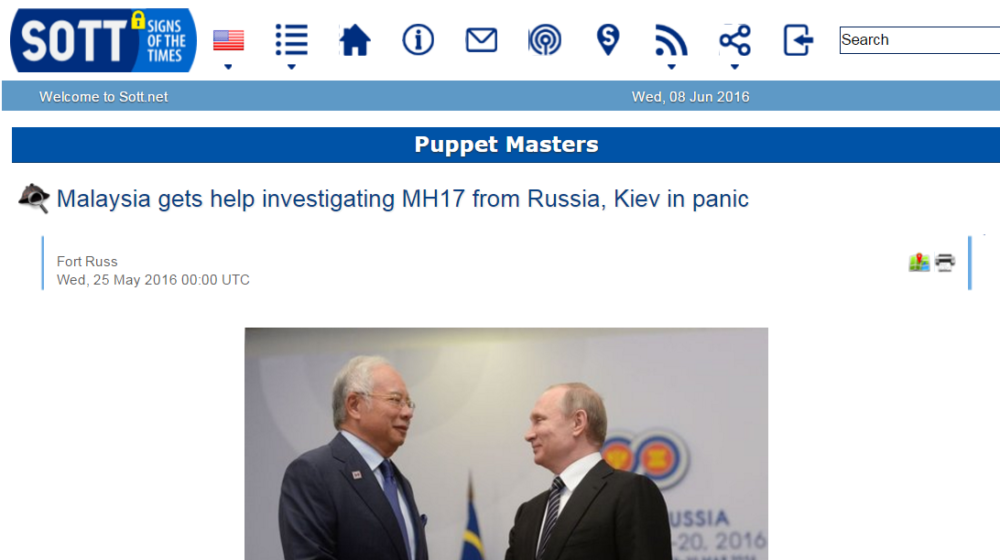 Malaysia gets help investigating MH17 from Russia Kiev in panic Puppet Masters Sott.net