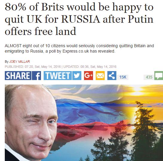 Sibir Daily mail 22 tisic britov chce na sibir, pritomje to 22.tisi citatelov ukip